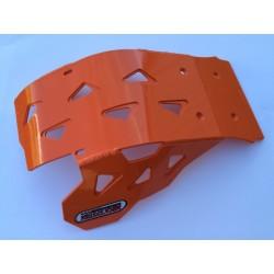 Sabot en Aluminium laqué orange KTM EXC 250/300 AM 2017-2020