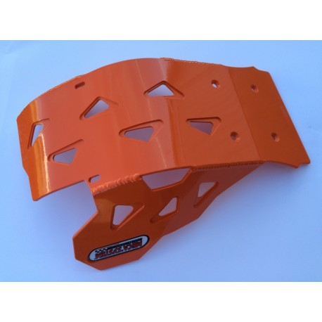 Sabot en Aluminium laqué orange KTM EXC 250/300 AM 2017-2019