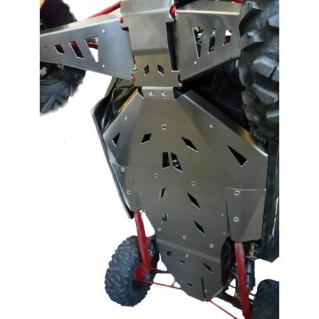 Semelle complète en aluminium 4 parties (hors triangles) POLARIS RZR XP 1000 / TURBO