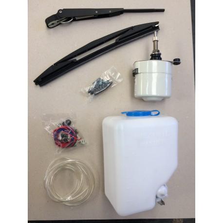 Kit moteur essuie glace 110° + kit lave glace