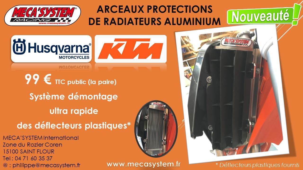 Arceaux de protections de radiateurs aluminium